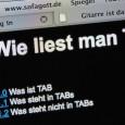 Der gute alte griffbrett.de Text der erklärt wie man TAB liest. Die Anleitung war in der Vergangenheit sehr beliebt, deshlab hier in neuer Auflage.